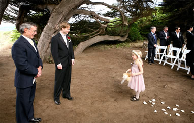 Wedding Service in Mendocino Botanical Gardens