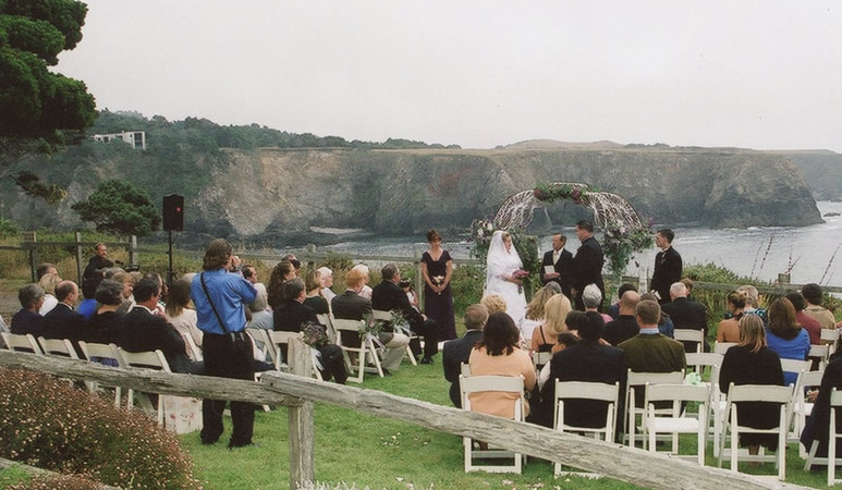 Rick Childs Officiating at a Mendocino Wedding